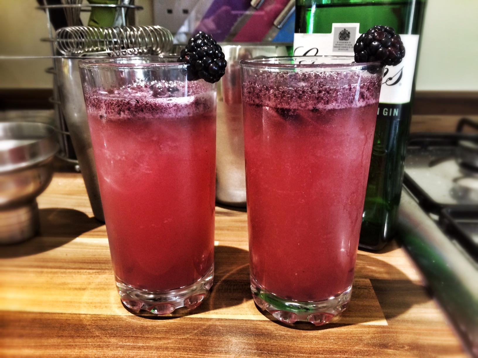 Blackberry gin & tonic | Season's Eatings