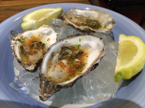 Oysters with dressing