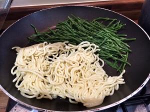 Noodles and samphire