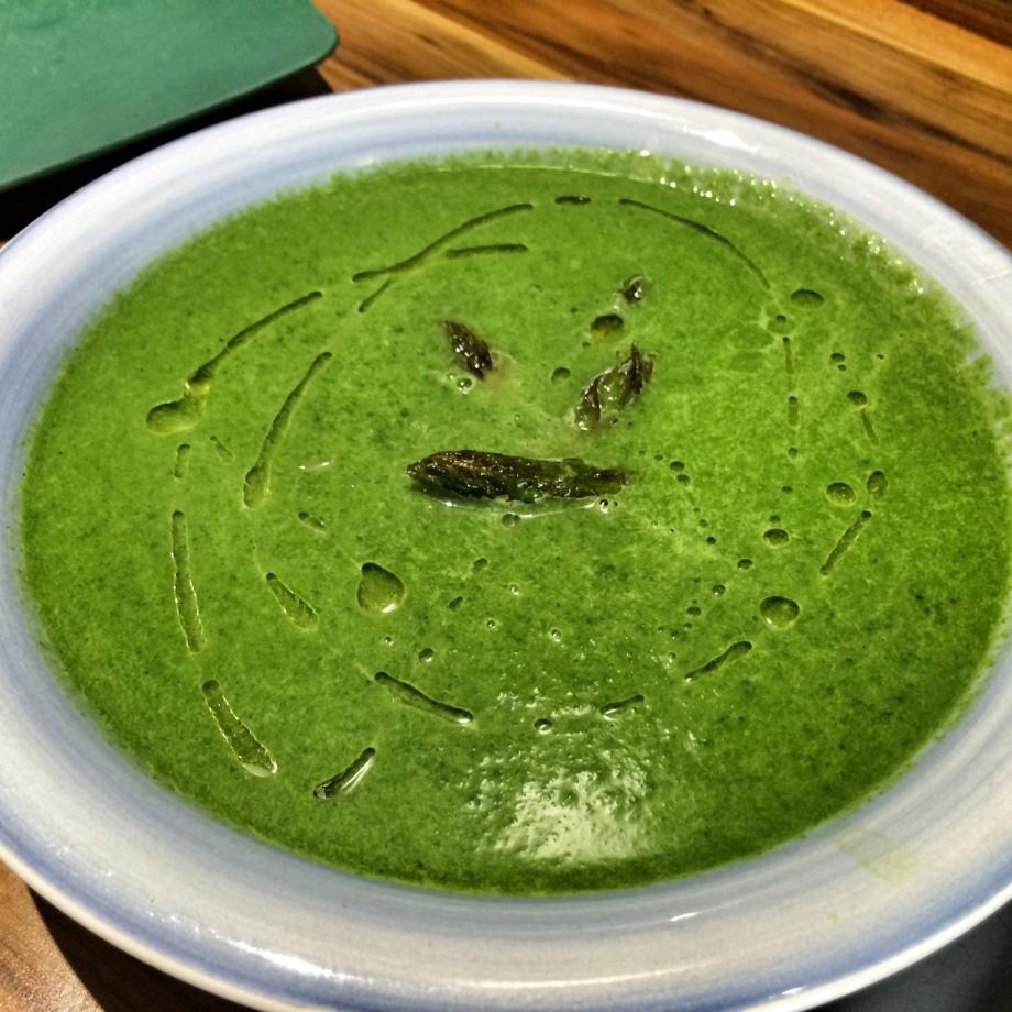 Asparagus & spinach soup