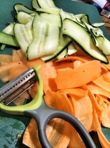 Sliced stir-fry vegetables