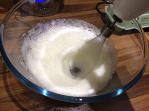 Meringue - whisking egg whites