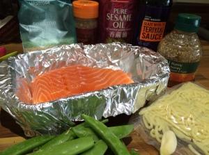 Teriyaki salmon ingredients