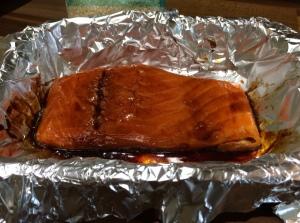 Teriyaki salmon - stooping