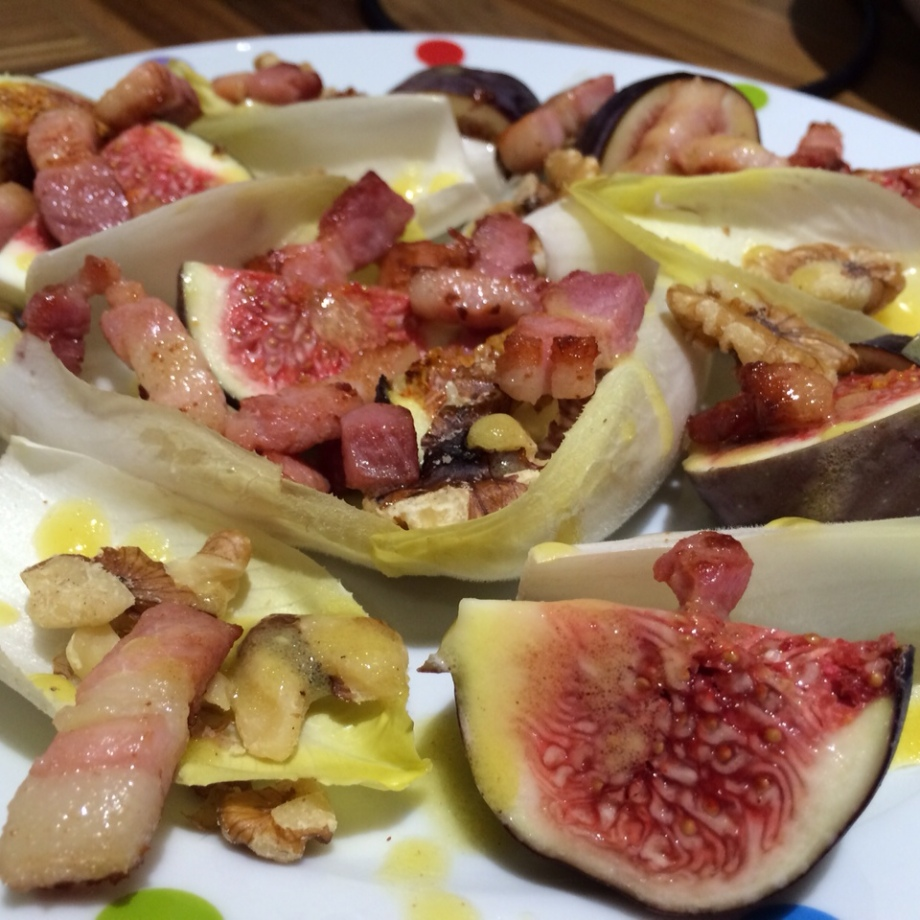 Fig and chicory salad