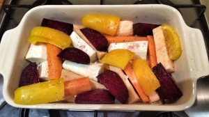 Winter roast vegetable salad