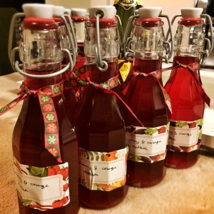 Christmas spirit - Cranberry and Orange Vodka