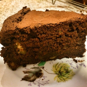 Chocolate, squash and pecan cake