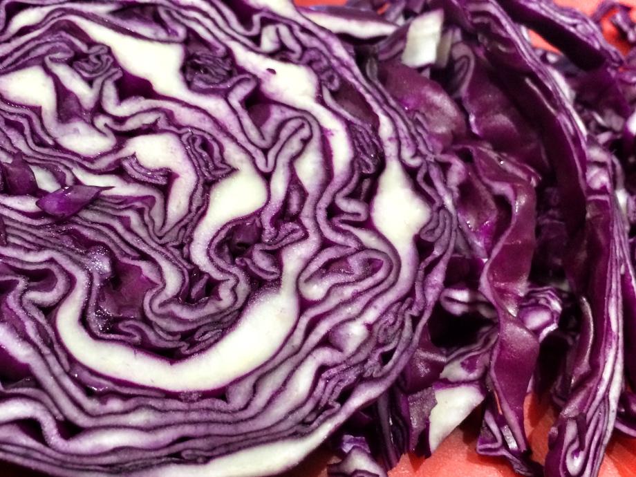 Blackberry braised red cabbage