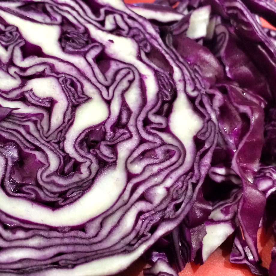 Blackberry braised red cabbage