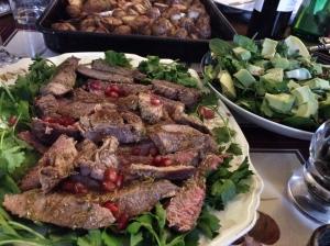 lemon and thyme sliced steak