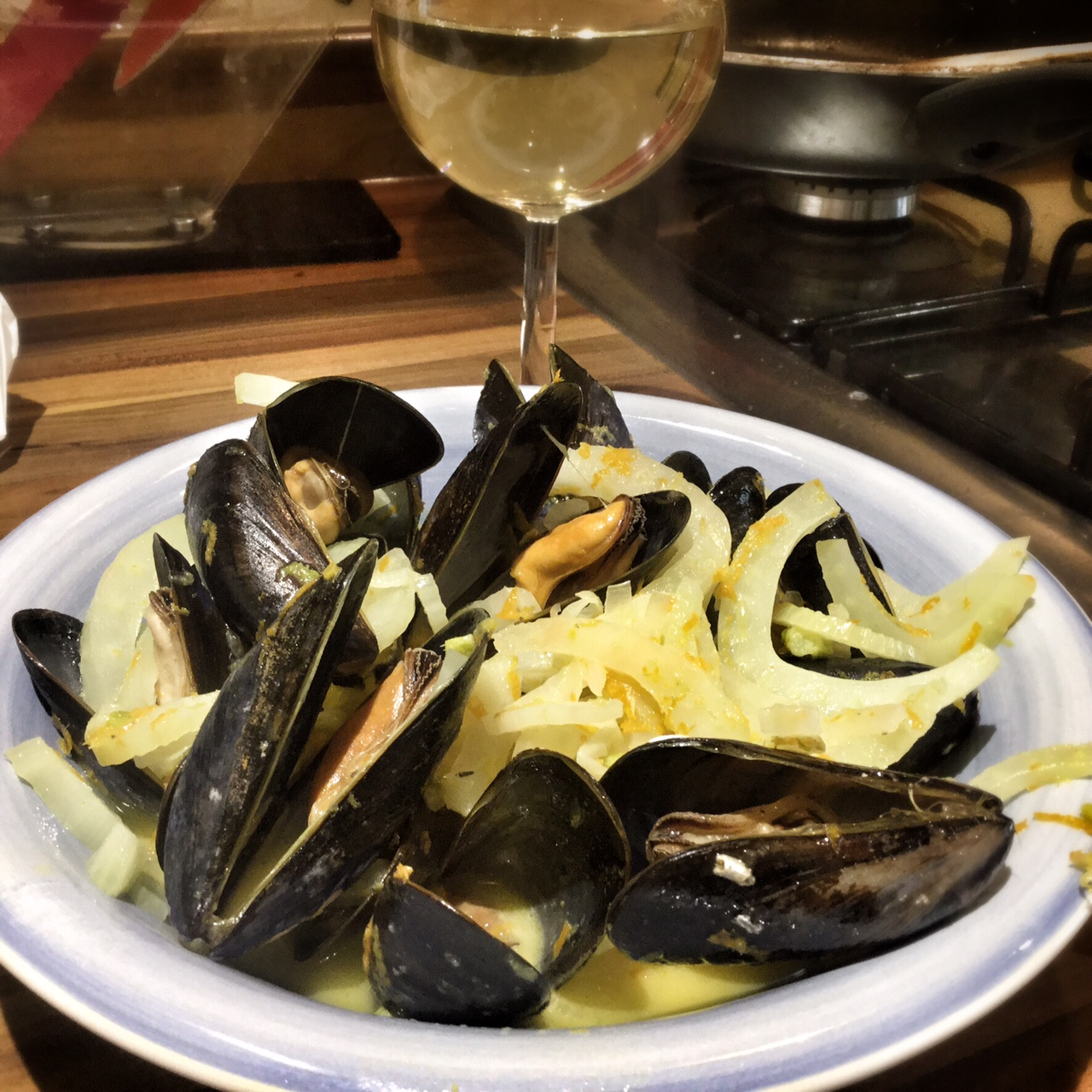 mussels with orange and fennel