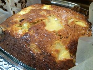 Rhubarb & Custard Traybake by Waitrose