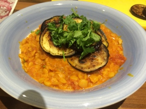 Cumin and aubergine dhal