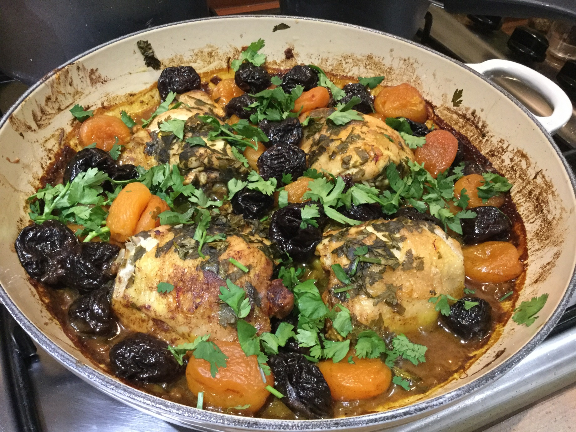 Chicken tagine with apricots and prunes seasons eatings chicken tagine forumfinder
