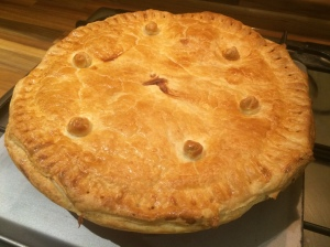 Pheasant and chestnut pie