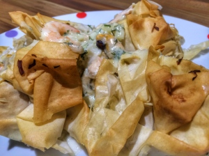 Filo and fish pie