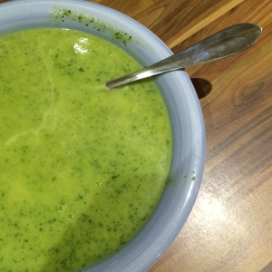 Courgette and watercress soup