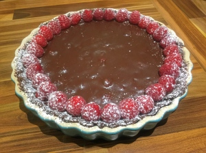 chocolate pastry split ganache
