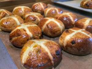 Hot Cross Buns apricot prune