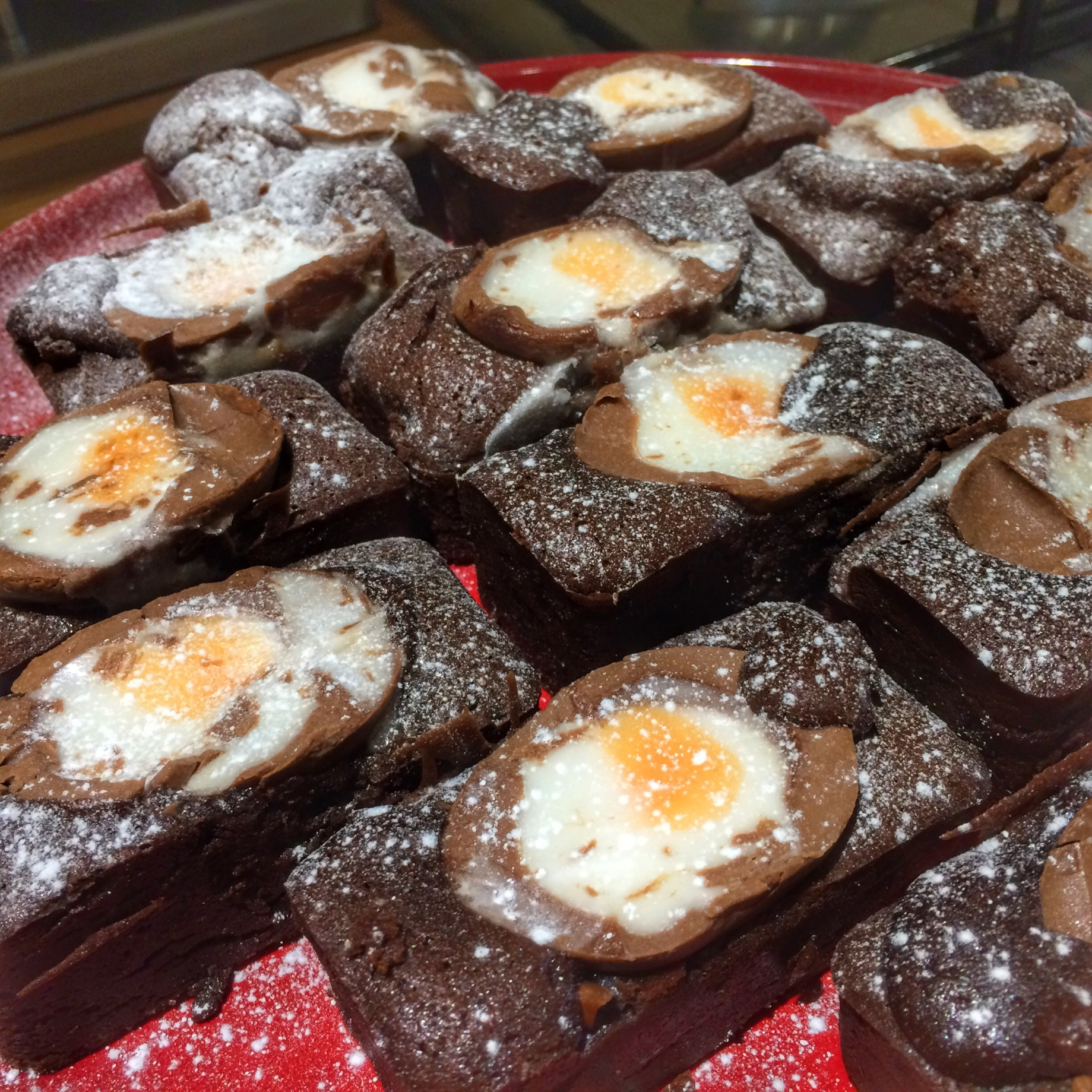 Cadbury's Creme Egg Brownies