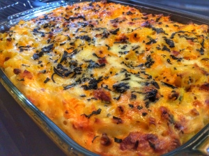 Macaroni cheese mac n cheese pancetta sweet potato