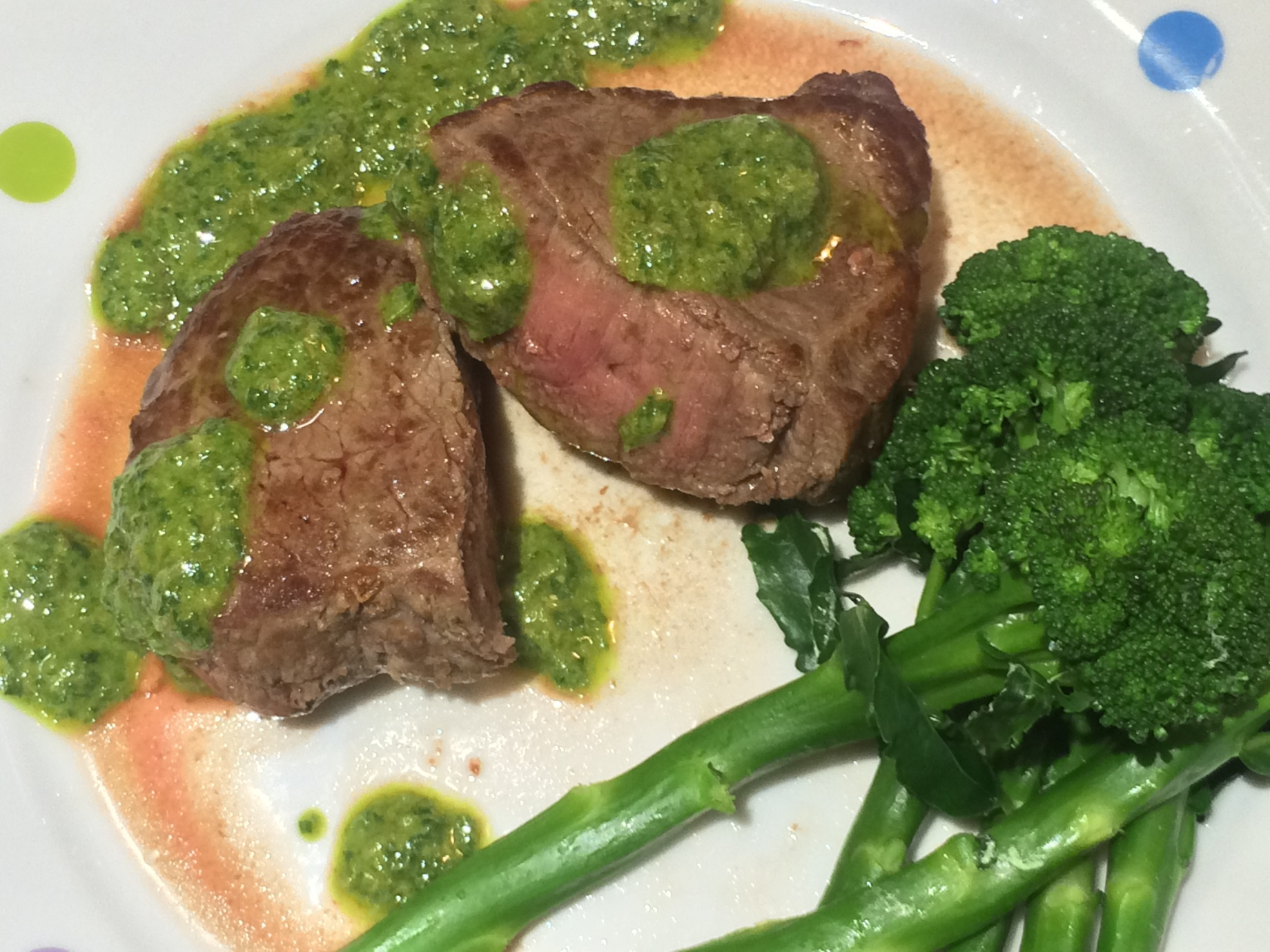 Simple steak with salsa verde