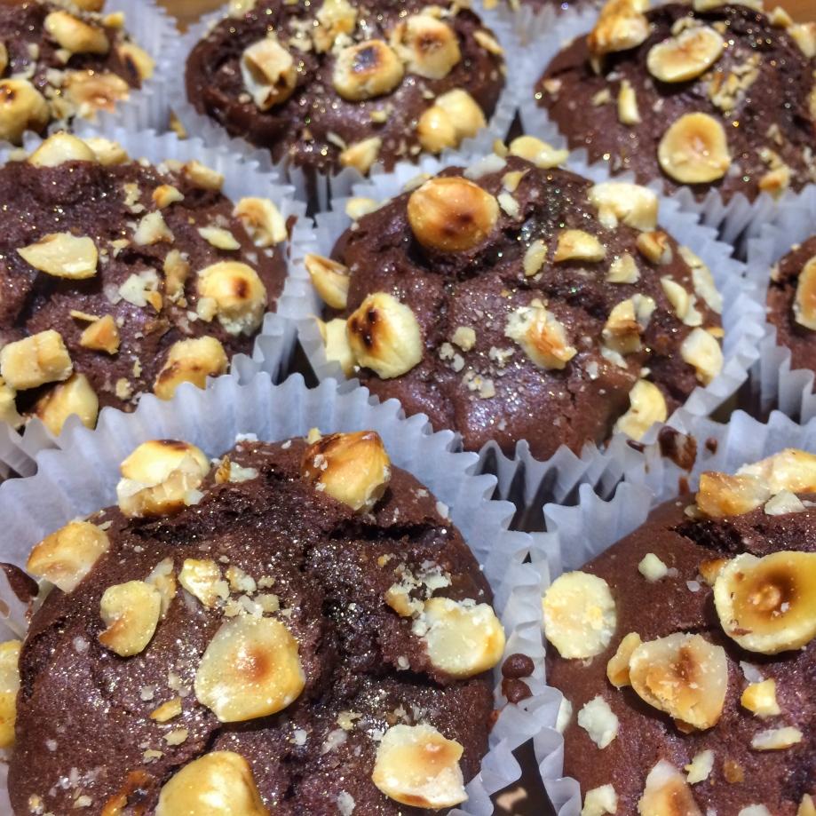 Pear Nutella and hazelnut muffins Martha Collison