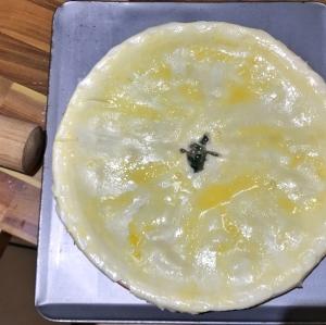 Chicken, spinach and mushroom pie
