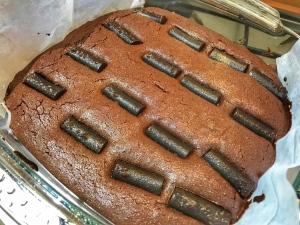 Liquorice chocolate brownies
