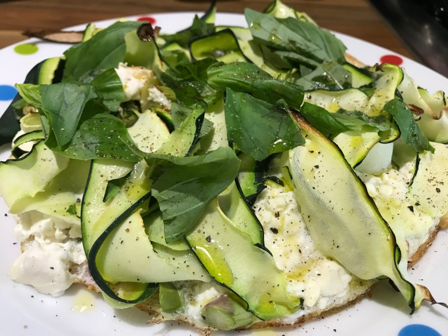 Milly Millbank's courgette, asparagus and feta egg white frittata