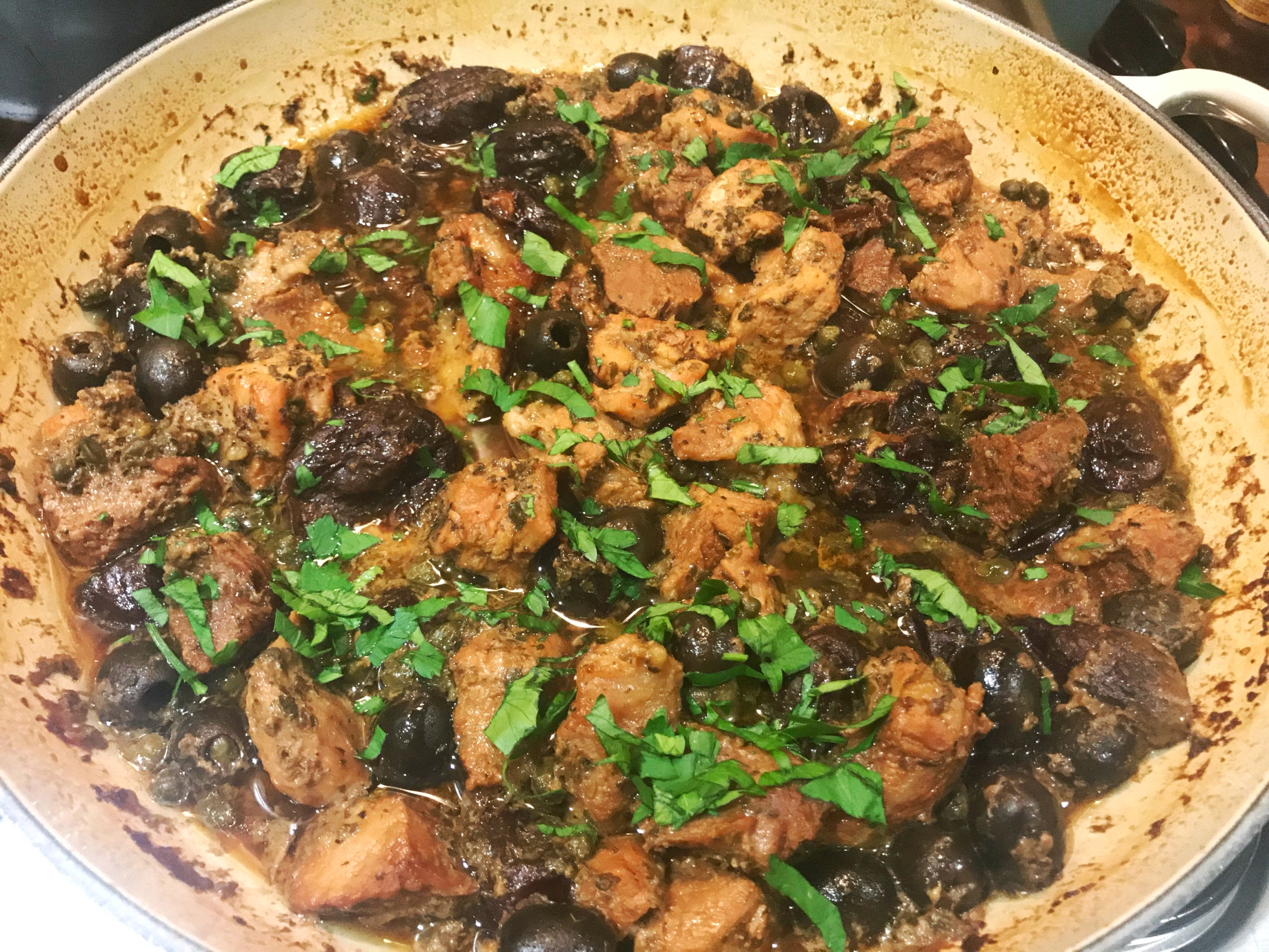 Nigella Lawson Pork with prunes olives and capers