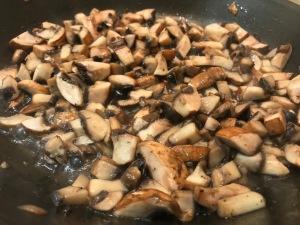 Chestnut and mushroom en croute